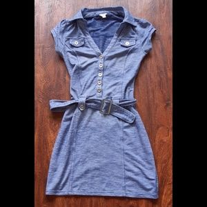 Guess collared button up mini dress